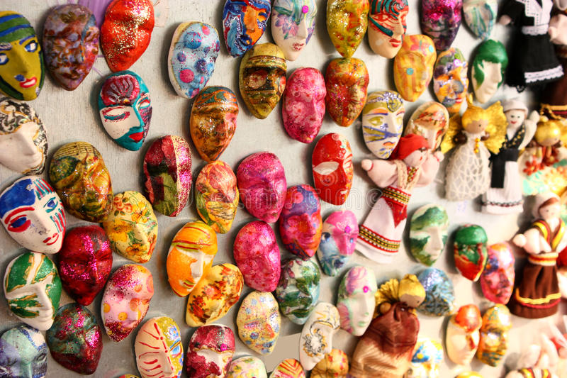 Download Many little masks stock image. Image of green, collection - 13019171