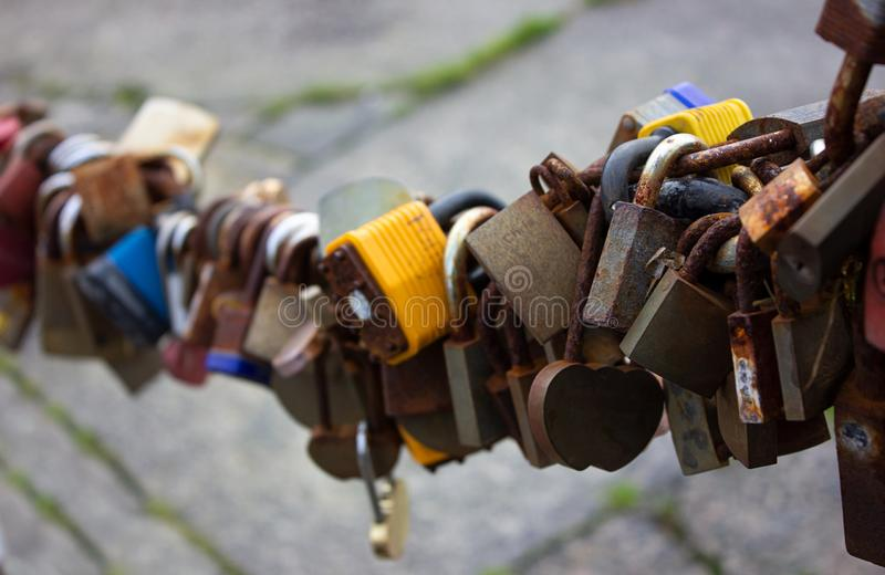 Many locks art Liverpool in United Kingdom. Great art photo stock photography