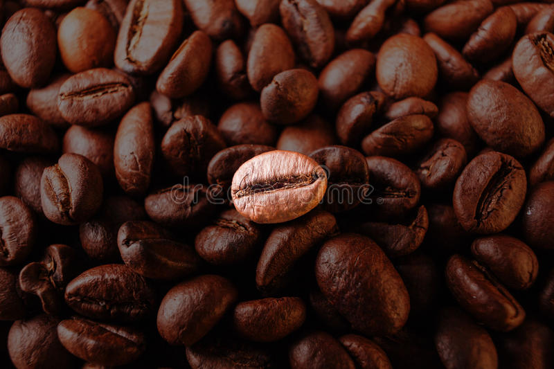 Download Many Macro Coffe Beans Closeup On Coffee Background. Stock Photo - Image: 83722835