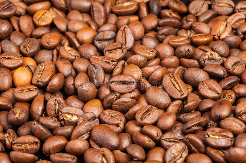 Download Many Macro Coffe Beans On Coffee Background. Stock Photo - Image: 83722867