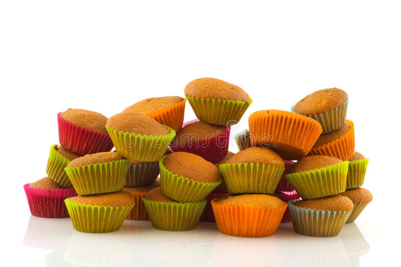 Download Many muffins stock photo. Image of sweet, baked, isolated - 17443306