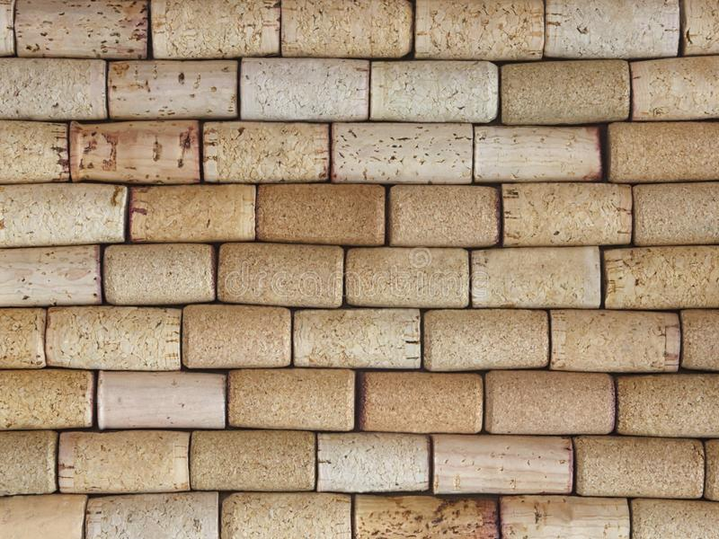 Stacked Side View of Natural Wine Corks stock photography