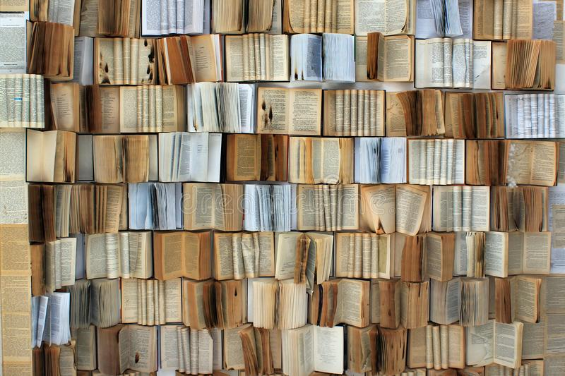 Many old books as background.  royalty free stock image
