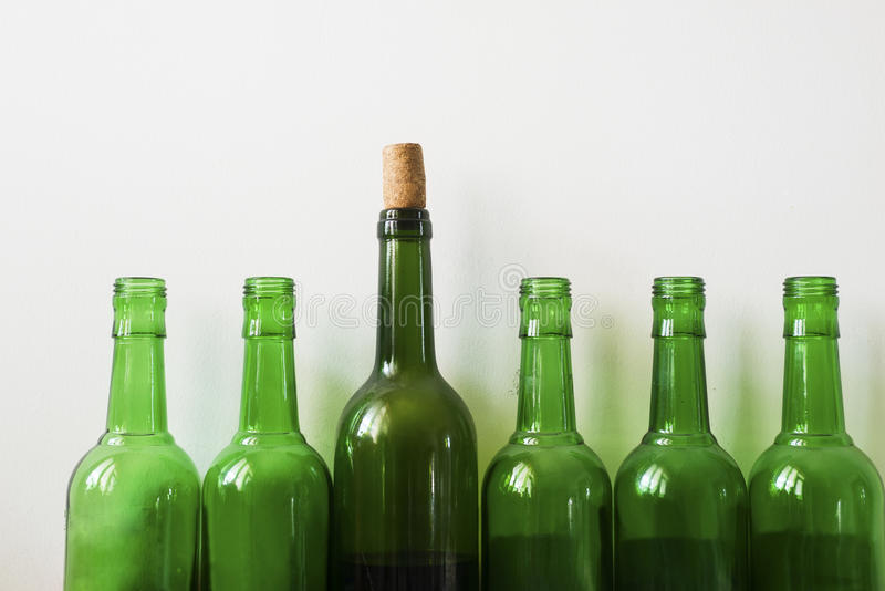 Many old bottles royalty free stock images