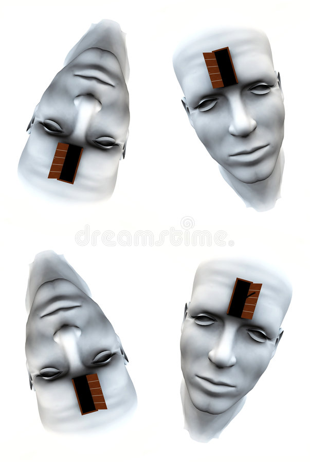 Download Many Open Heads Tile Pattern Background 4 Stock Illustration - Image: 5756890