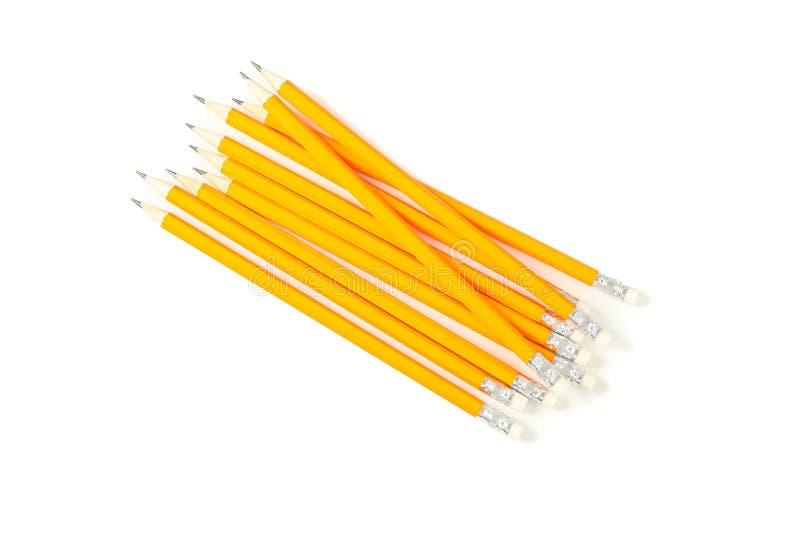 Many pencils isolated on white background stock image