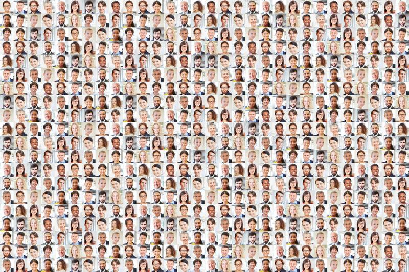 Many people as a business team group royalty free stock image