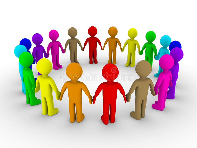 Many People Form A Circle Royalty Free Stock Image