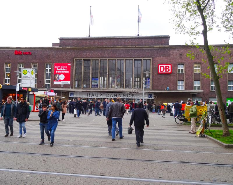 Central station, Dusseldorf royalty free stock photo