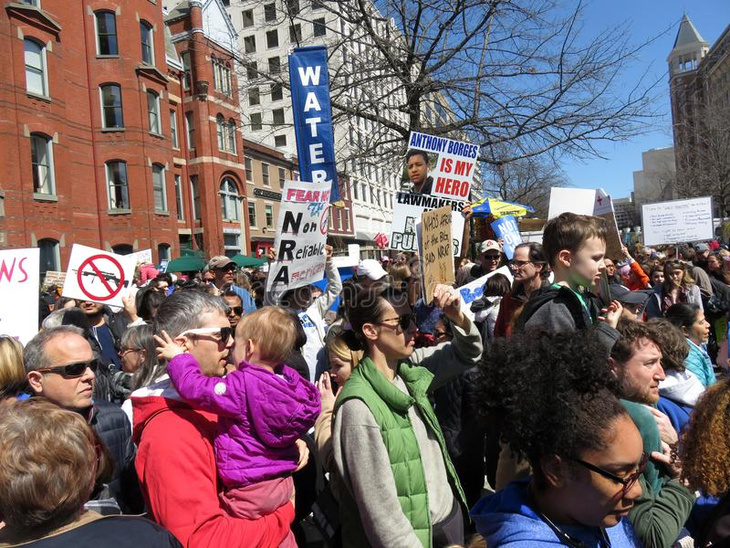 Many People at the March for Lives Rally royalty free stock photography