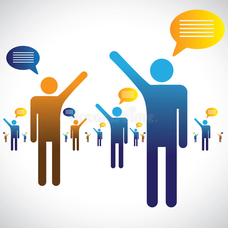 Many People Talking,speaking Or Chatting Graphic Royalty Free Stock Image
