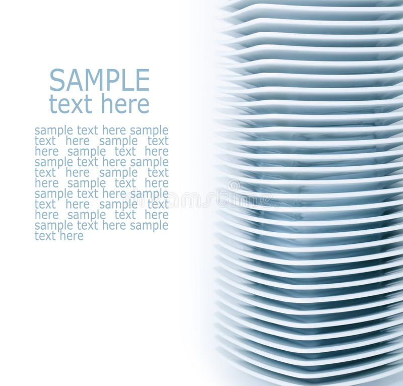 Download Many plates stock photo. Image of stack, space, blue - 23263354