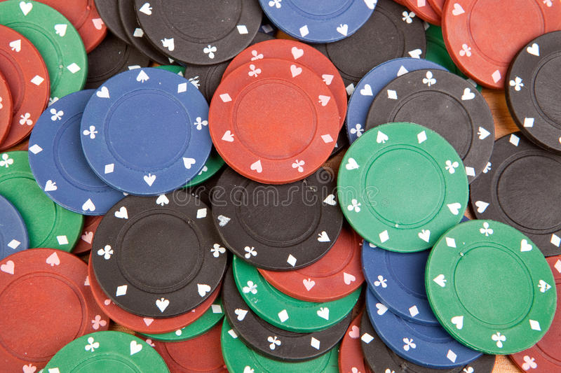 Download Many poker chips stock image. Image of casino, blue, black - 21139271