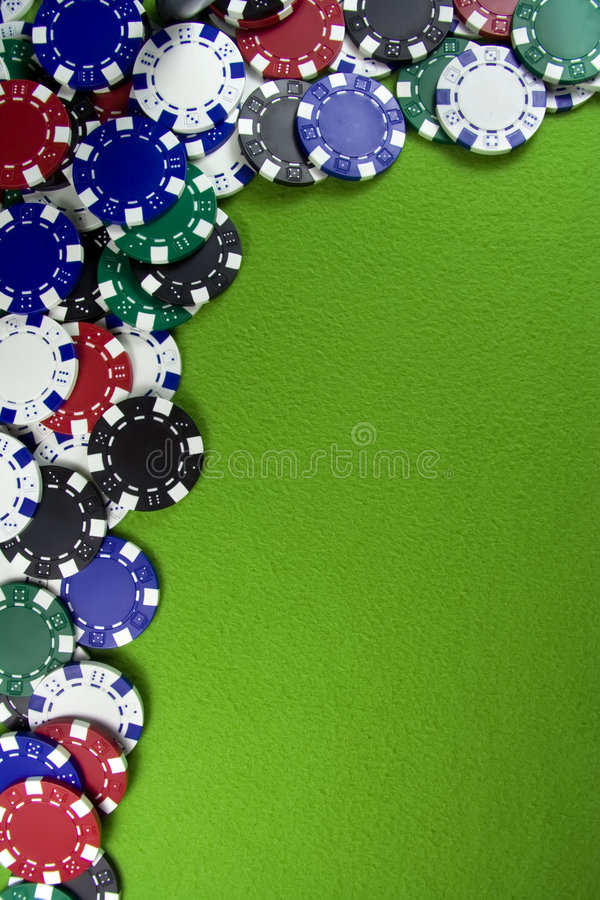 Free Many Poker Chips On Casino Table Stock Photo - 8654130