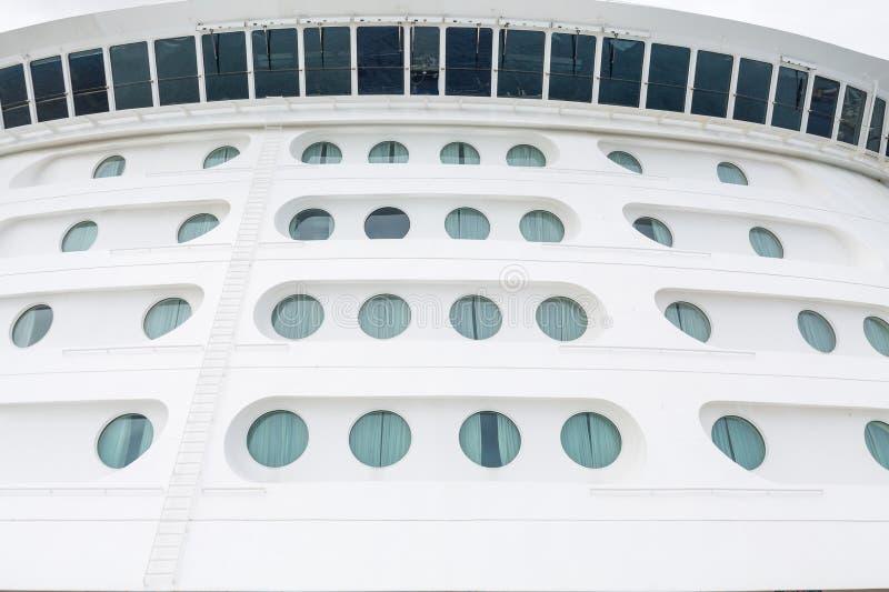 Many Portholes Under Curved Bridge Windows stock image