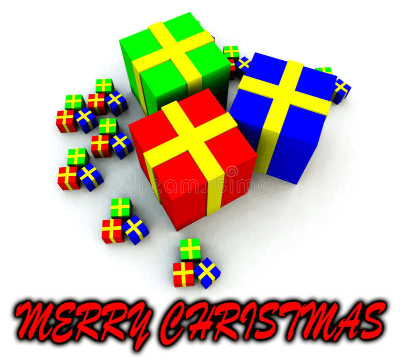 Many Presents 2 Royalty Free Stock Images