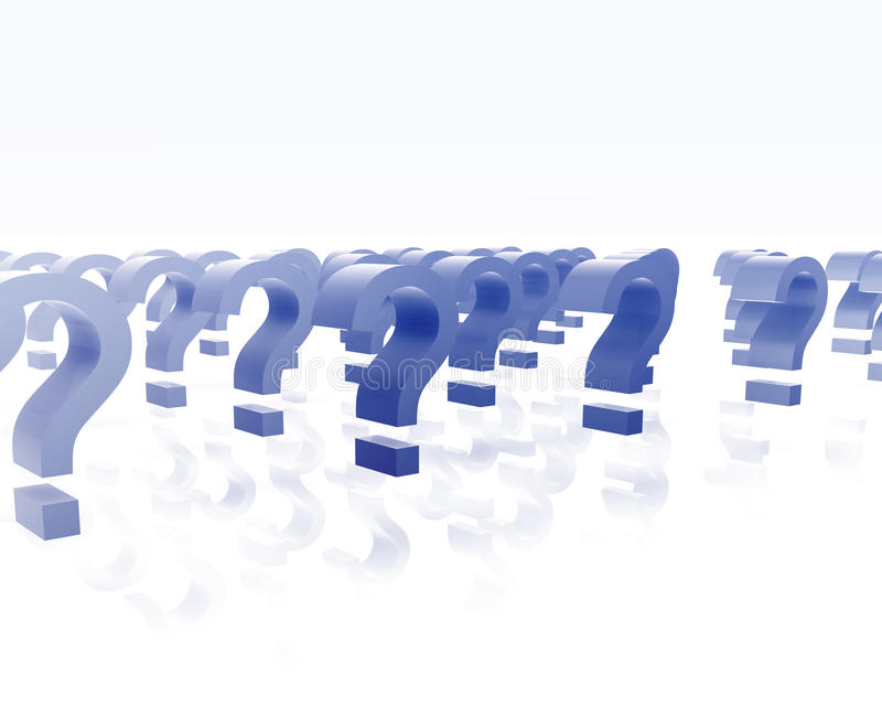 Download Many question marks stock illustration. Image of shiny - 10058407