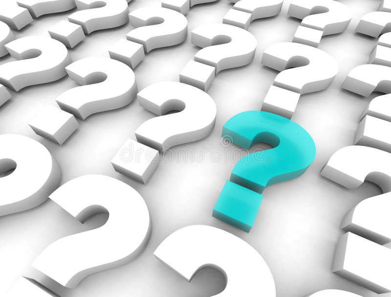 Many Question Marks stock illustration