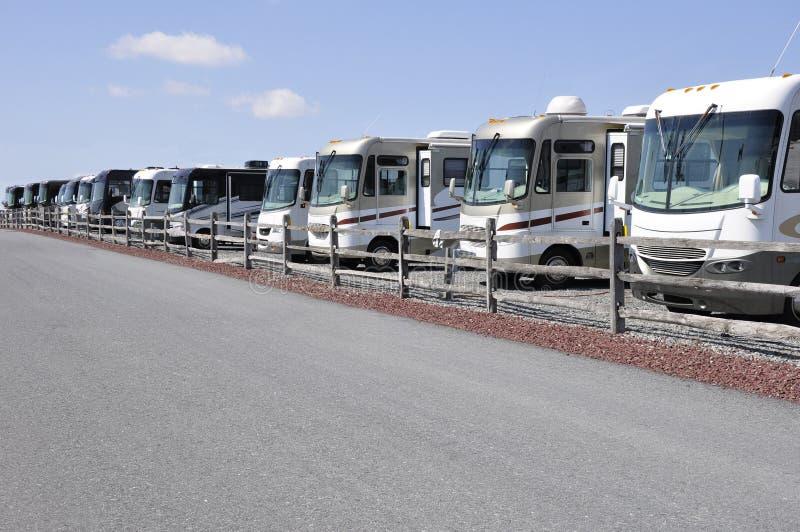 Many recreation vehicles stock images