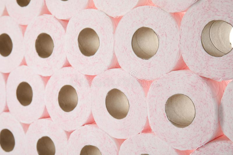 Many rolls of toilet paper royalty free stock image