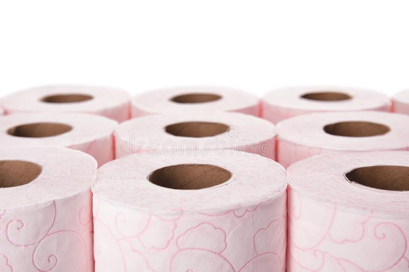 Many rolls of toilet paper royalty free stock photography