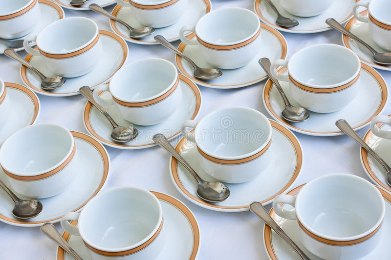 Download Many rows of coffee cup stock photo. Image of handle - 24549924