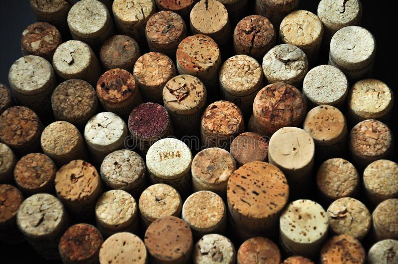Many rubber wine corks background royalty free stock images