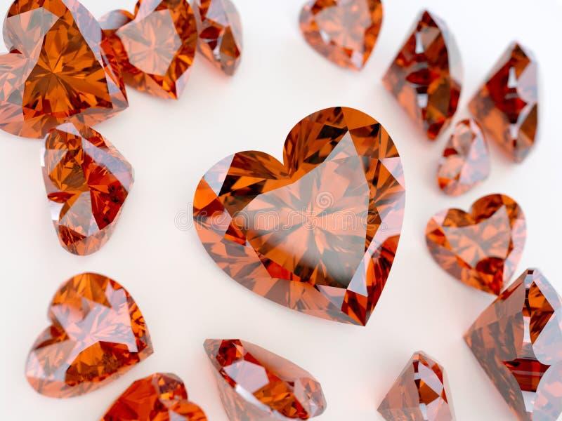 Download Many ruby hearts stock illustration. Illustration of diamond - 25844957
