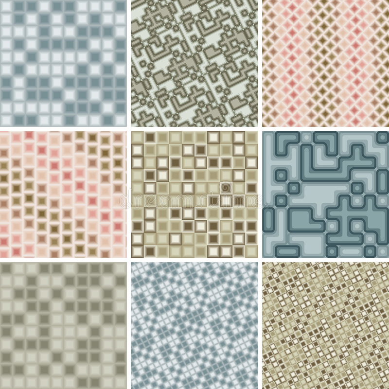 Many seamless tile patterns royalty free stock photography