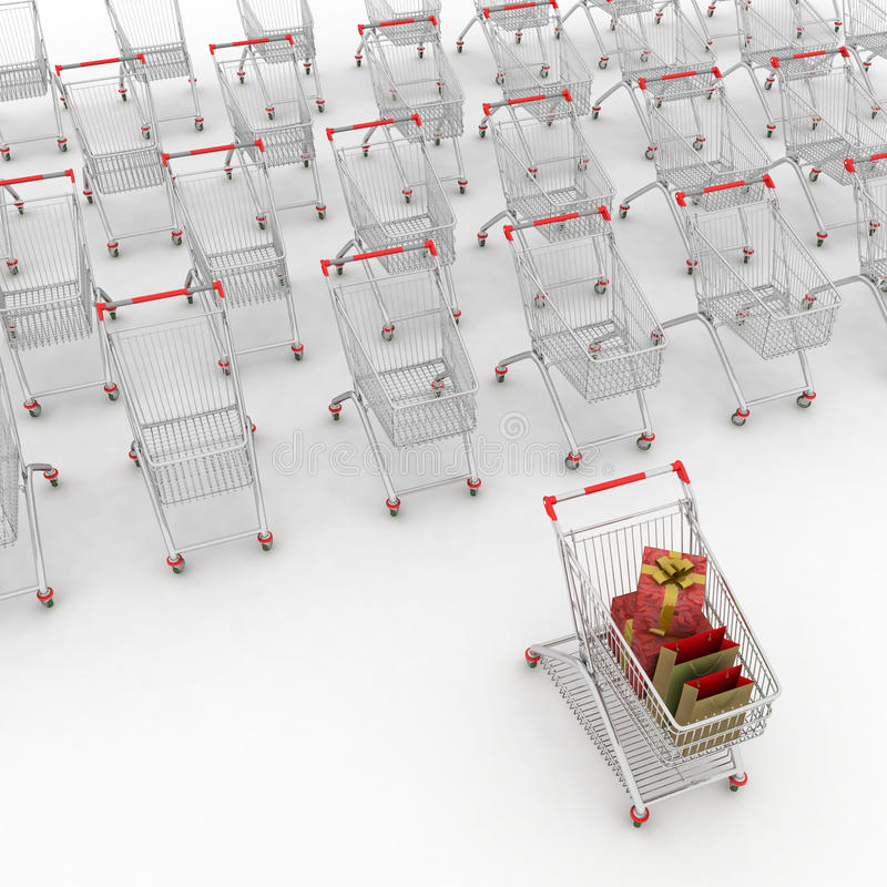 Download Many shopping carts stock illustration. Image of product - 23969338
