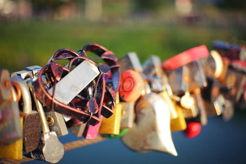 Many signs of love on Valentine s Day bridge