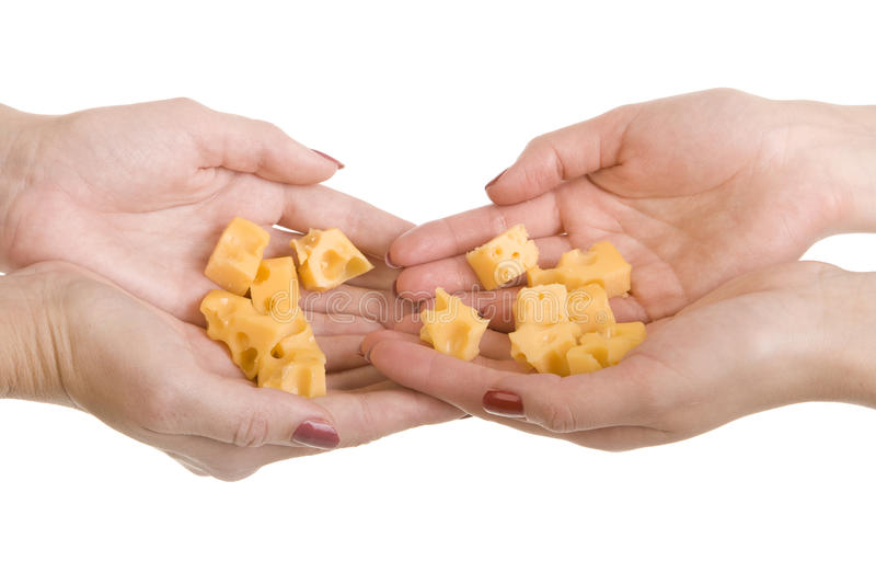 Download Many Slices Cheese On A Palms Stock Image - Image: 16801853