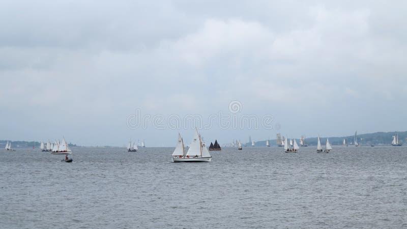 Many Small Sailboats - Kiel - Germany - Baltic Sea Editorial Stock Photo