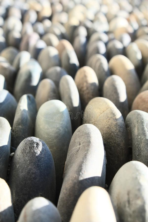 Many stones in one direction royalty free stock photos