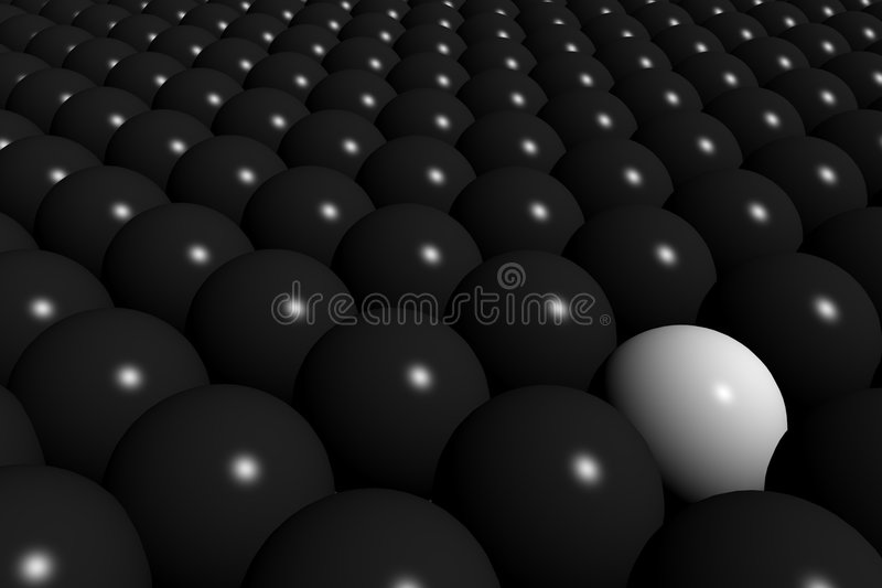 Download Many sphere stock illustration. Image of individuality - 4013362