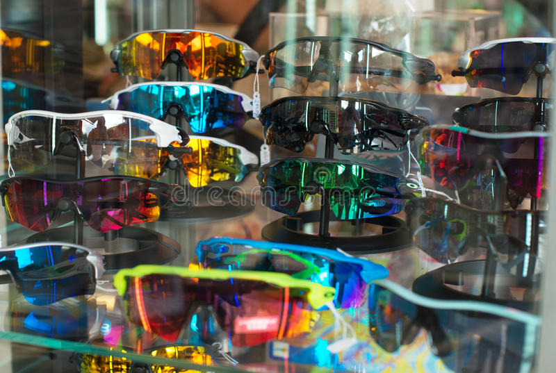 Many sports glasses. royalty free stock photography