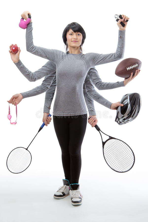 Many sports to choice from stock image