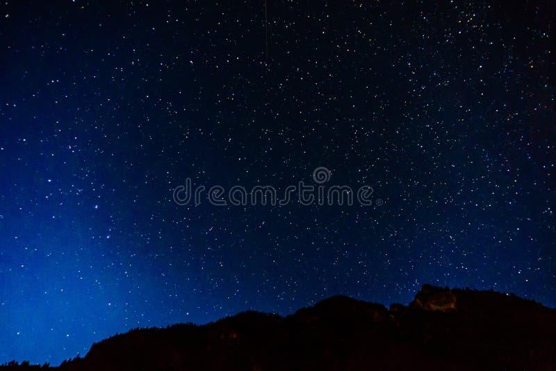 Many starts on blue dark night sky as a cosmos background. Many starts on blue dark night sky as a cosmos background royalty free stock photography