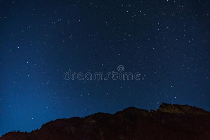Many starts on blue dark night sky as a cosmos background. Many starts on blue dark night sky as a cosmos background stock photos