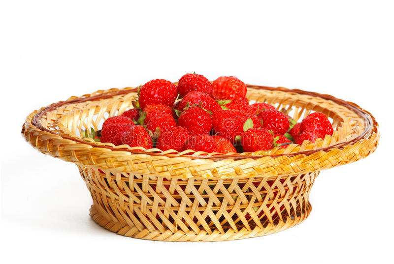 Download Many Strawberries In A Basket Stock Image - Image of heap, objects: 32337663
