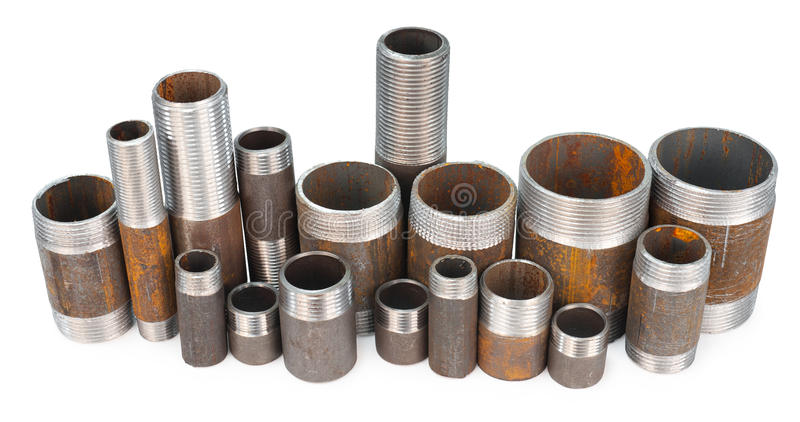 Many threaded pipes royalty free stock images