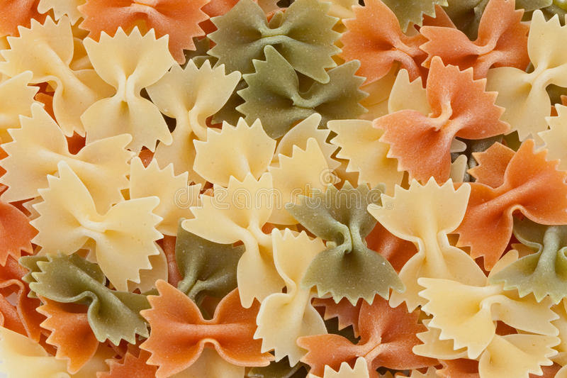 Many Ties Of Colored Pasta Royalty Free Stock Image