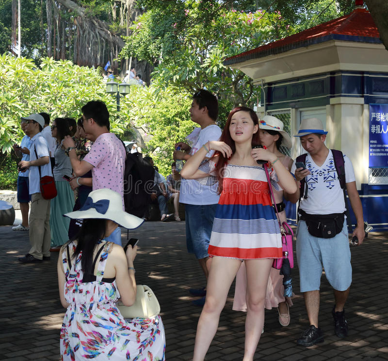 Many Tourists Editorial Stock Photo