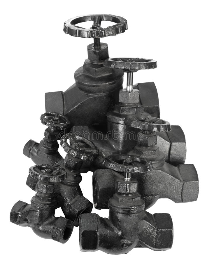 Many valves stock images