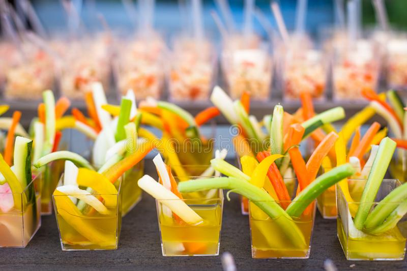 Assortment Appetizers and finger food royalty free stock photography