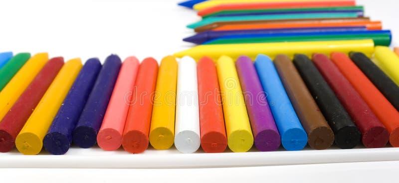 Many wax pencils stock photos