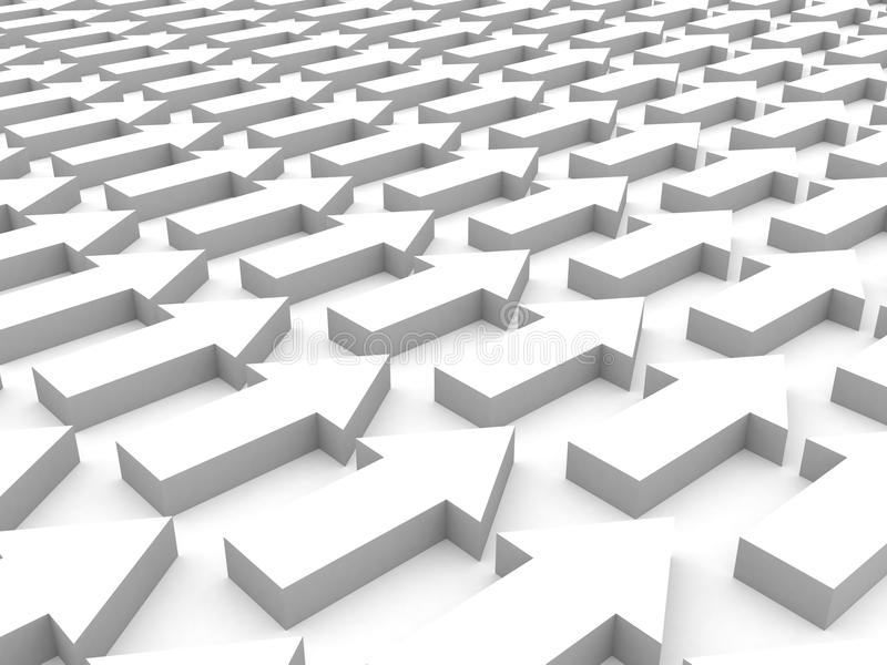 Download Many White Arrows Moving Together To Success Stock Image - Image: 22832389