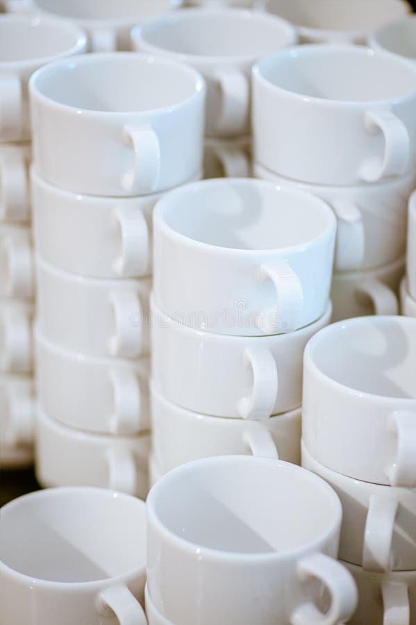 Download Many white mugs stock image. Image of background, empty - 28767827