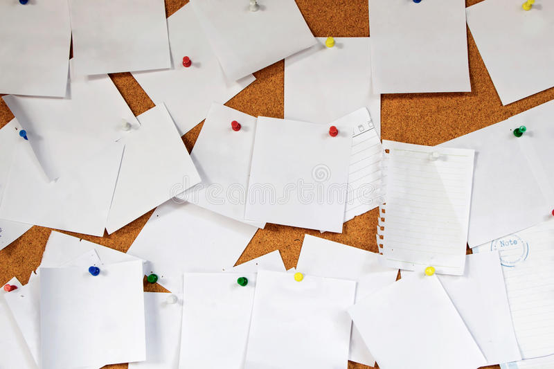 Many white note paper stock photo