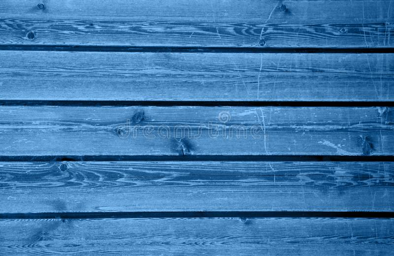 Many wooden blue planks. royalty free stock photo
